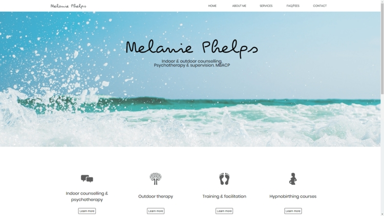 An preview image of the homepage of www.melaniephelps.co.uk